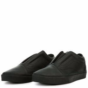 vans old skool laceless DX mono/monochrome leather